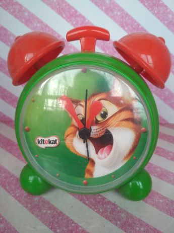 Zegar zegarek budzik kot kotek kitekat