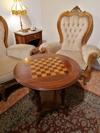 Mesa Jogo Xadrez (apoio centro sofá, mesinha cabeceira) estilo Inglês