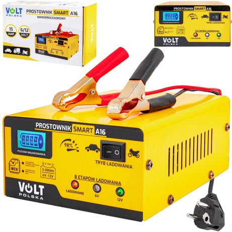 Ładowarka prostownik do akumulatora lcd 6V 12V 15A (PRO48)