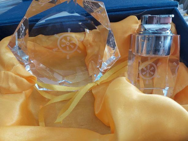 Rotary Club - cinzeiro e isqueiro cristal