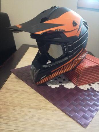 Kask motocrossowy KTM+ gogle