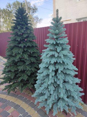 Литая елка Елитная от 1.5 м голубая Лита ялинка