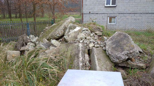 Gruz betonowy, duże kawałki