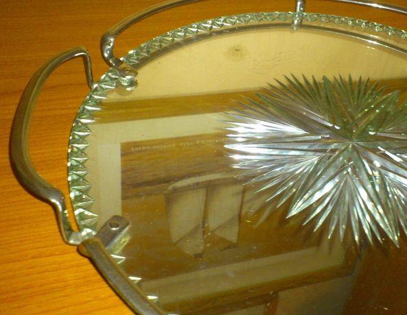 Kryształowa lustrzana taca glamour