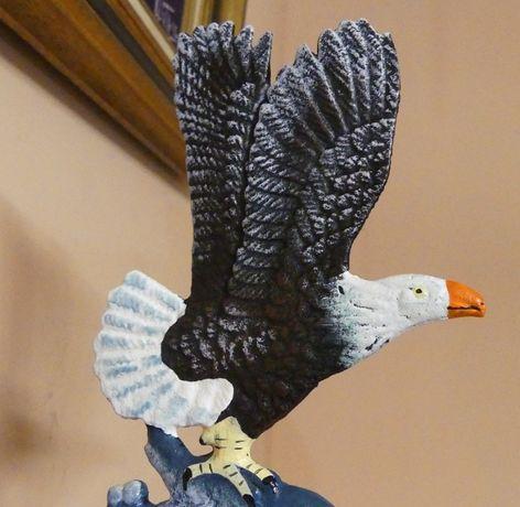 Duży użytkowy DZWON żeliwny ORZEŁ dzwonek ptak