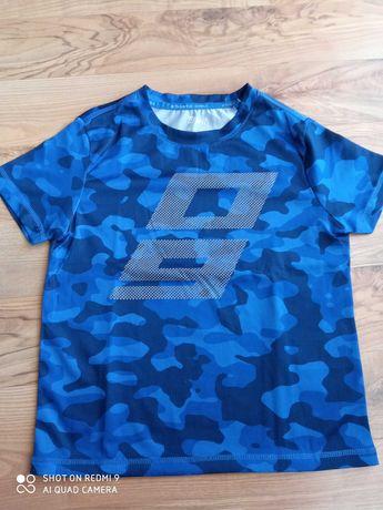 Koszulka sportowa niebieskie moro r. 122-128