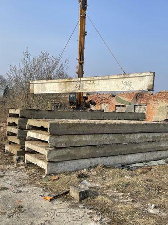 Балки бетонні, Регіля залізобетонні 7.5м і 6м