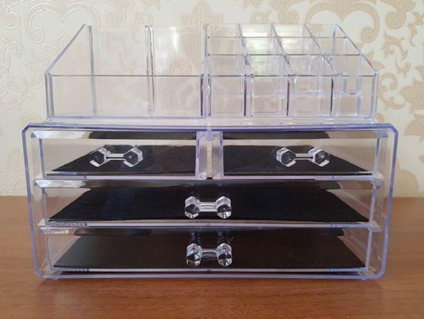 Настольный ящик органайзер для хранения косметики