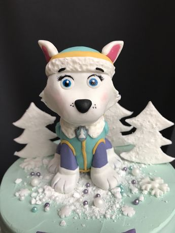Figurka z masy cukrowej Everest na tort Psi Patrol
