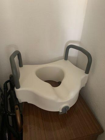 Pack cadeira de banho, andarilho e adaptador de sanita para idoso