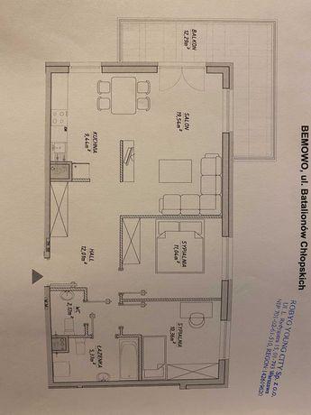 Mieszkanie 72m Bemowo Metro Batalionów Chłopskich