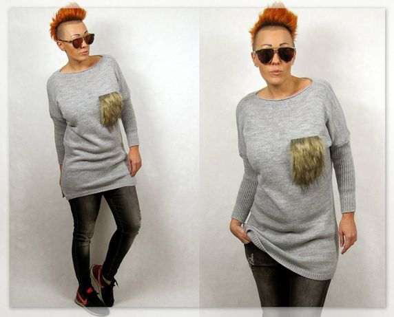 Włoski dłuższy sweterek oryginał M/L super cena!!!