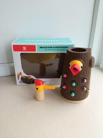 Накорми птенца,Магнитная игра с червяками Top Bright  Голодный птенец/