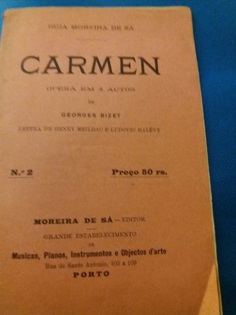 Programa de ópera em 4 actos de 1891(?)