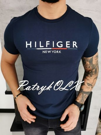 XXL / Tommy Hilfiger koszulka męska t-shirt granatowa