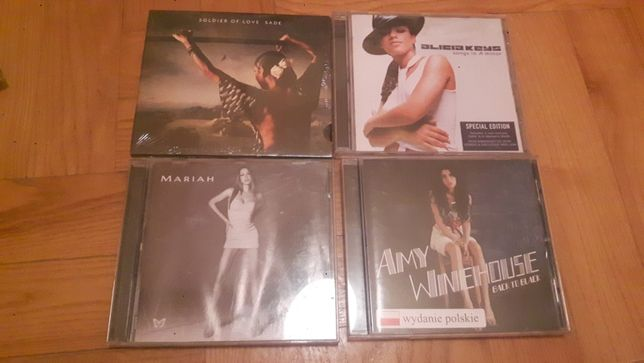 Płyty Sade, Mariah Carey, Alicia Keys, Amy Winehouse