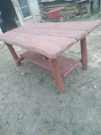 Meble ogrodowe stół i ławki huśtawki peralgole donice