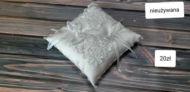 Poduszka na obrączki, pozostałości po weselu, dekoracje
