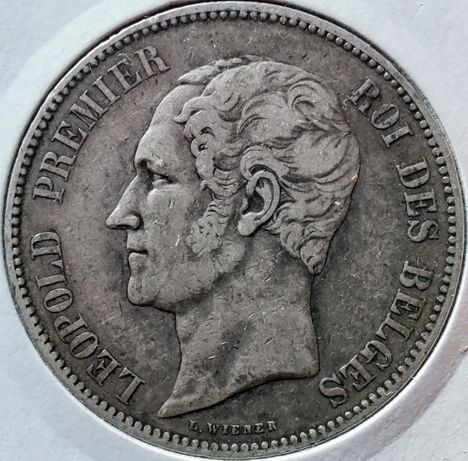 5 franków 1852 Belgia
