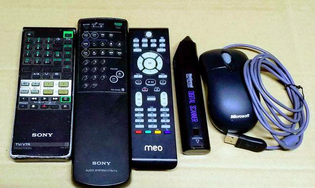 Comandos de televisão/rato
