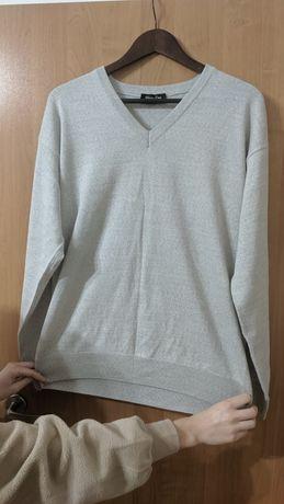 Jasnoszary sweter męski XL