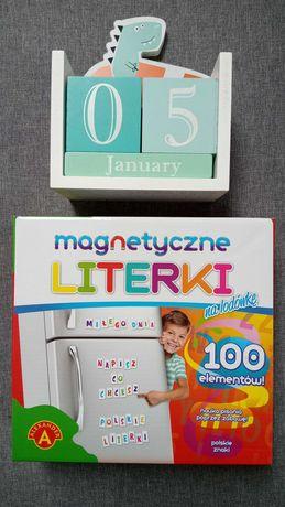 Kalendarz i literki magnetyczne