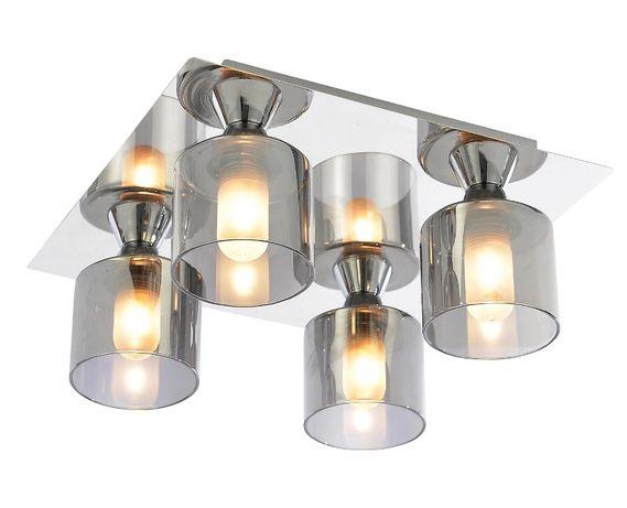 Lampa sufitowa Cobark Brushed Smoked effect 4 Lamp Bathroom