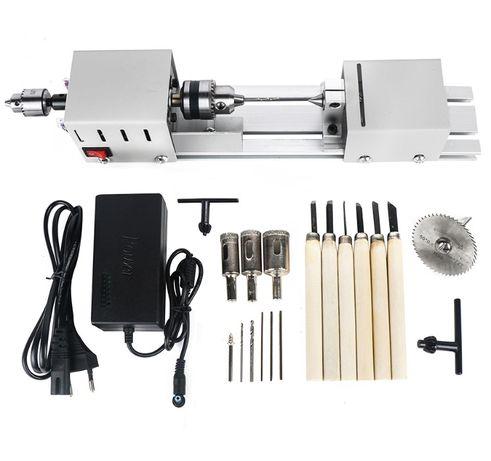 Мини-токарный станок для резки токарно фрезерный дерева металла дрель.
