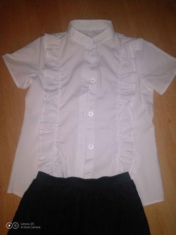 Komplet biała bluzka i spódniczka