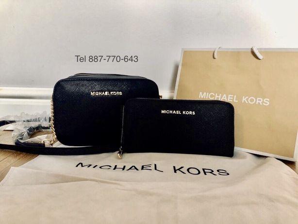 Prezent zestaw Michael Kors damski czarny mk torebka portfel GRATIS