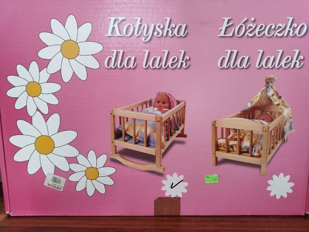 Drewniane lóżeczko/kołyska dla lalek