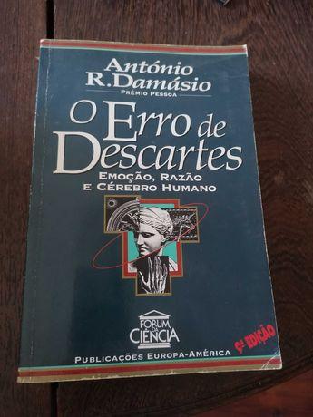 Livros António Damásio - Erro de Descartes e O Sentimento de Si