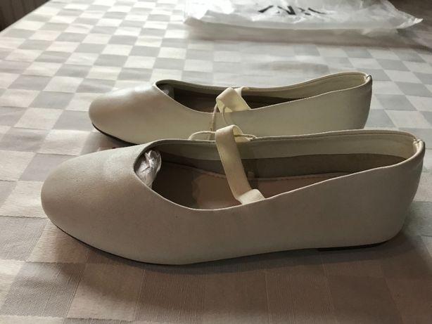 Buty dla dziewczynki, baleriny ZARA, rozmiar 30, nowe z metką!