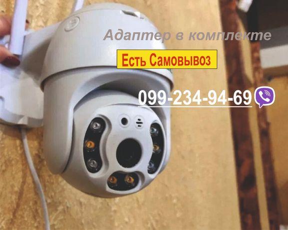 Уличная беспроводная поворотная IP камера WiFi с SD Видеонаблюдения