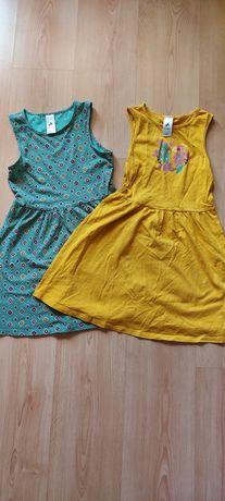 Sukienki letnie Mega paka 8szt. 128-140cm.