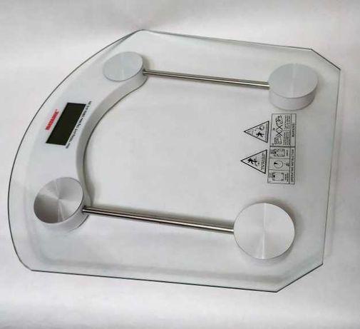 Весы напольные стеклянные до 180 кг Квадратные цифровые весы новые