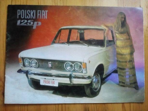 Prospekt Fiat 125 w języku rosyjskim