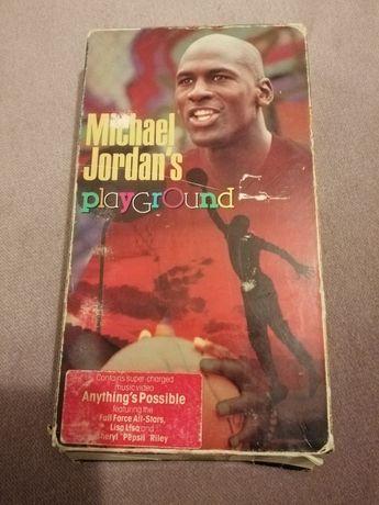 Kaseta VHS Michael Jordan playground do kolekcji unikat oldschool