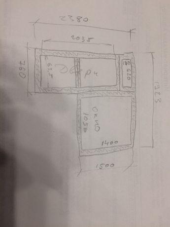 Продам металло-пластиковое спаренные двери с окном
