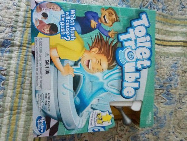 "Hasbro игра ""Унитаз"", ""toilet trouble"" весёлая настольная игра 4-99лет"