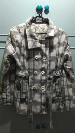 Płaszczyk jesień/ciepła zima, rozmiar 38, sweter z futerkiem