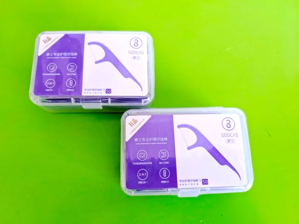 Флосс зубочистки Xiaomi Soocare Soocas Cleaning Зубные нити 50 шт нить