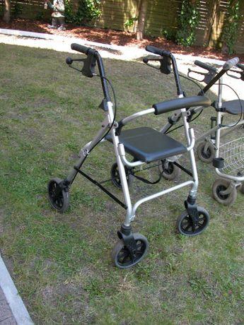 wózek- balkonik rechabilitacyjny z aluminium laska gratis