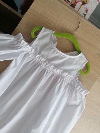 Biała bluzka bluzeczka Zara hiszpanka zakończenie roku