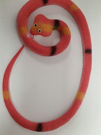 Wąż gumowy miękki duży rozciągliwy (80 cm)