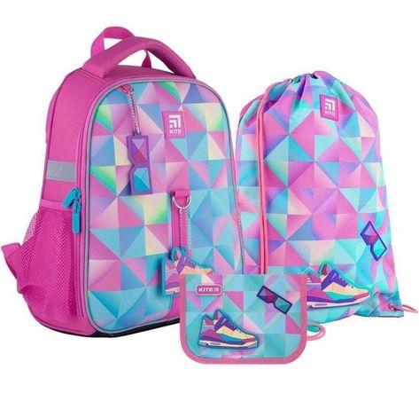 АКЦИЯ на Комплект школьный рюкзак кайт, пенал, сумка для обуви Kite