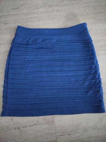 Niebieska mini spódnica XS