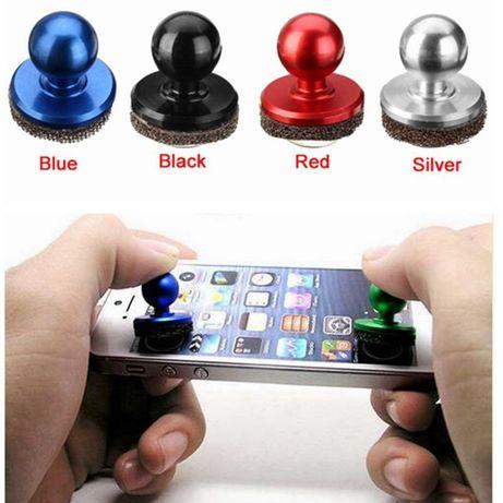 Joystick preto para telemóvel
