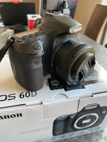Canon 60D + EF 50mm/1:1,8 STM z Polskiej Dystrybucji , karton kpl.
