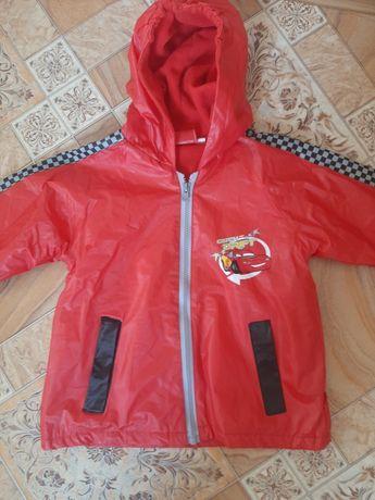 Курточка-ветровка на флисе, на 3-5 лет